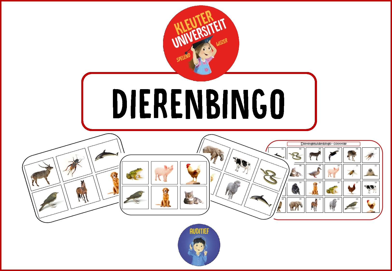 Genoeg Dierengeluiden bingo | Kleuteruniversiteit JE87