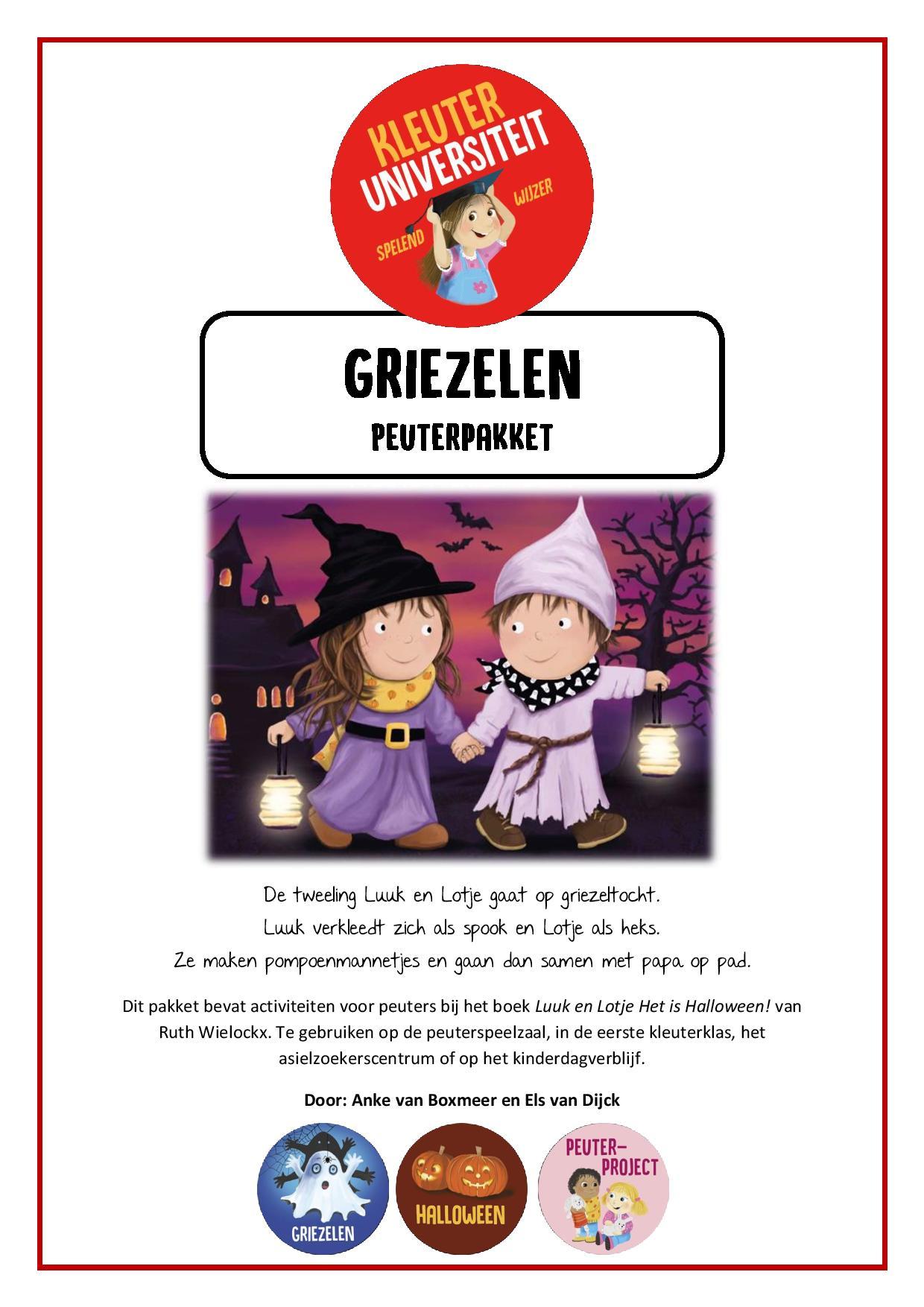Halloween Gebruiken.Griezelen Peuterproject