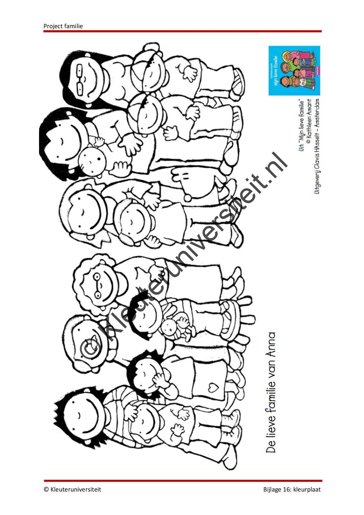 Kleurplaten Thema Familie.Familie Groep 1