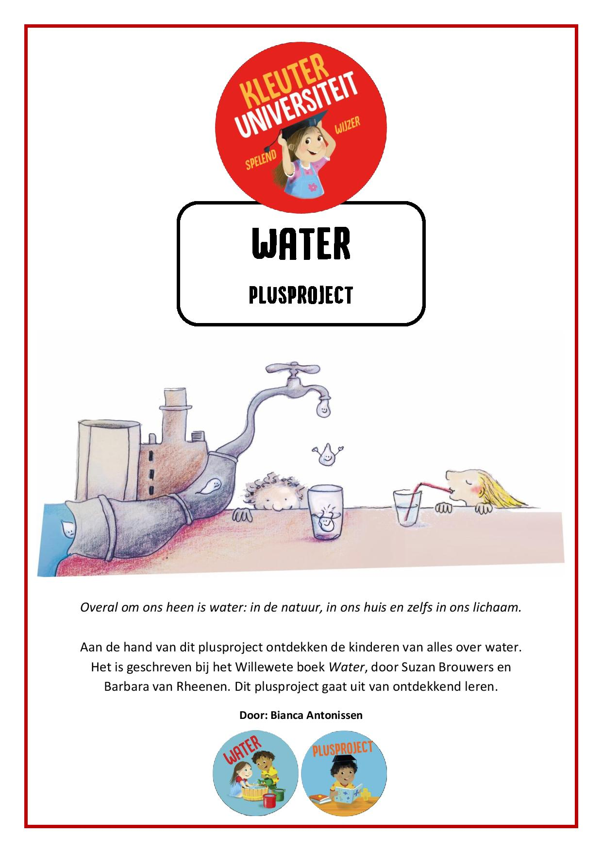 Wonderlijk Water – plusproject – Kleuteruniversiteit EJ-12